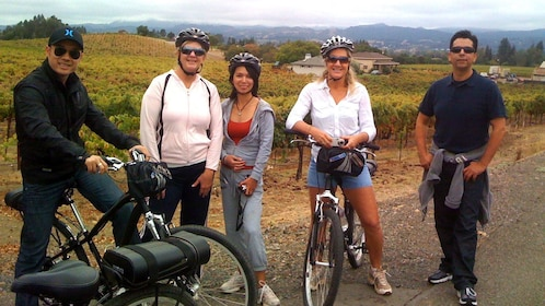Bicycling group in Sonoma Valley