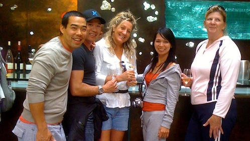 Wine tasting group at a winery in Sonoma Valley