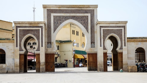 Gate at ancient Medina in Fez