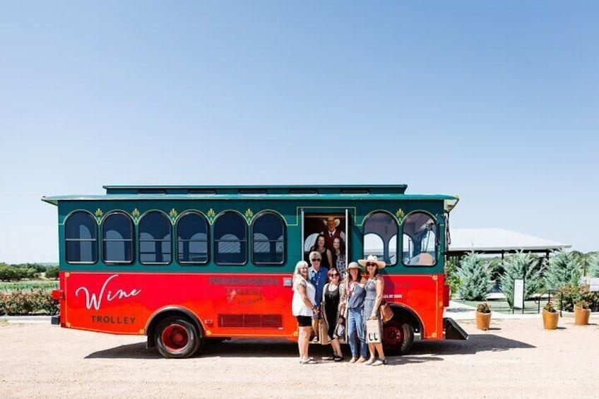 The Original Fredericksburg Wine Trolley