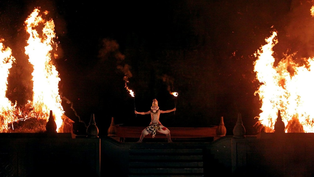 performance with pyrotechnics in Indonesia