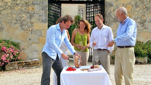 wine tasting with bread in France