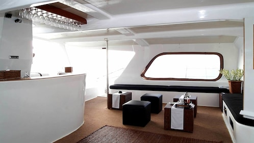 View of galley of catamaran from WakaSailing tour in Bali