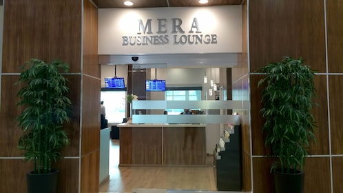 View of the Mera Business Lounge at Cancun Airport in Mexico