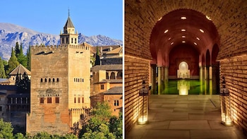 Experiencia combinada: la Alhambra y los baños en el Hammam Al Andalus