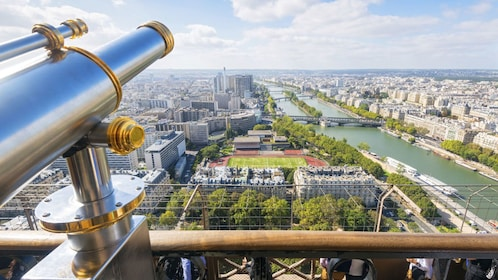 viewing the city with a telescope in France