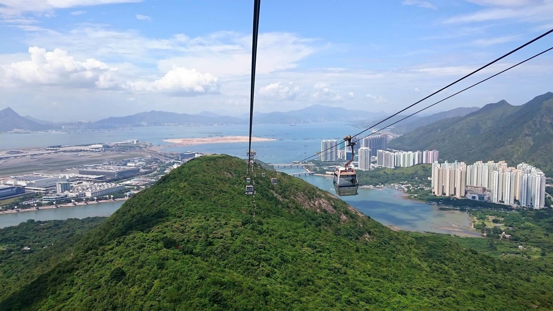 Aerial tram in Hong Kong