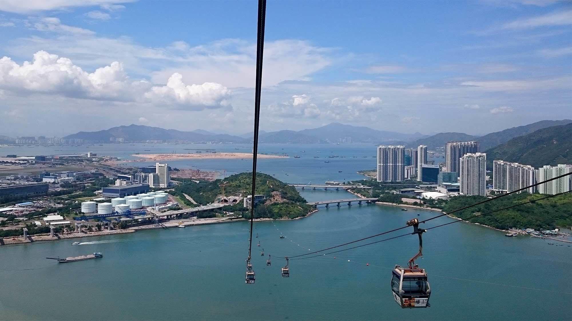 Gondolas in Hong Kong