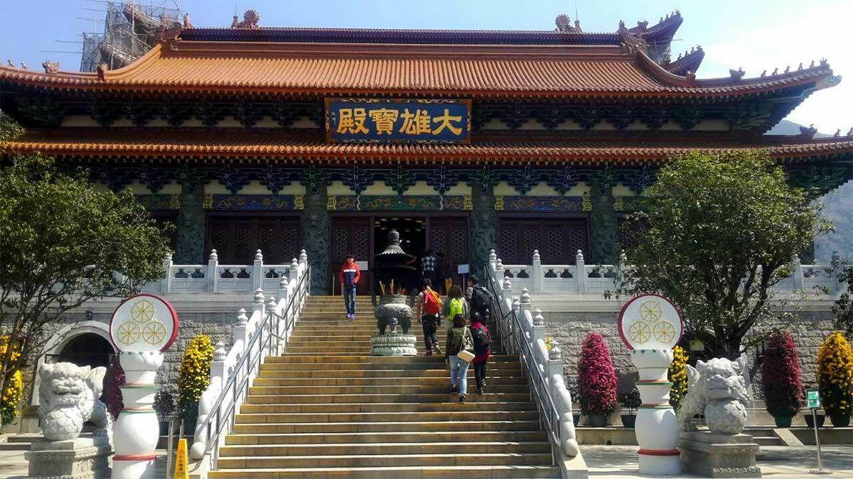 Lantau Island Monastery in Hong Kong
