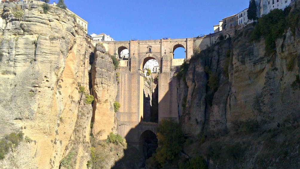 Stunning view of the Puente Nuevo New Bridge over Guadalevin River in Ronda, Andalusia, Spain.
