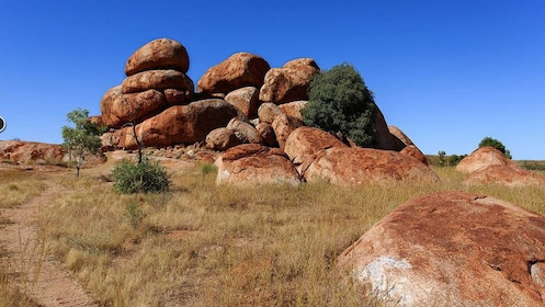 Landscape view of rock formations.