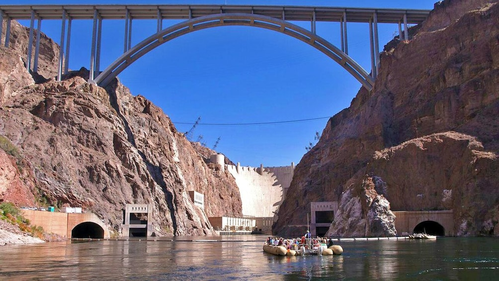 Show item 1 of 6. raft carrying passengers at the Hoover Dam in Las Vegas