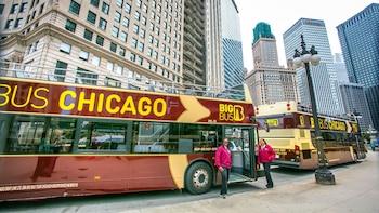 Busstur med hop-on/hop-off i Chicago