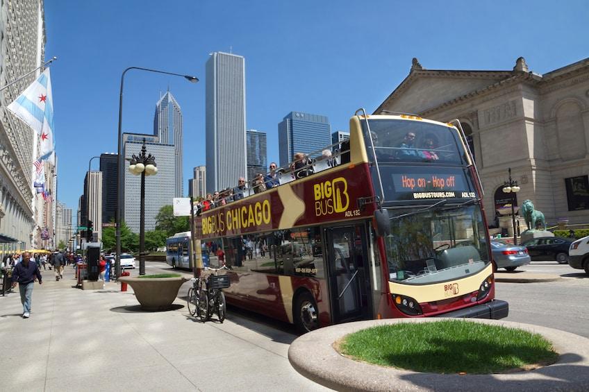 Show item 3 of 10. Chicago Hop-On Hop-Off Big Bus Tour