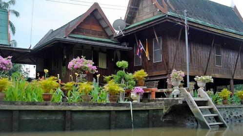 House seen from along the river in Bangkok