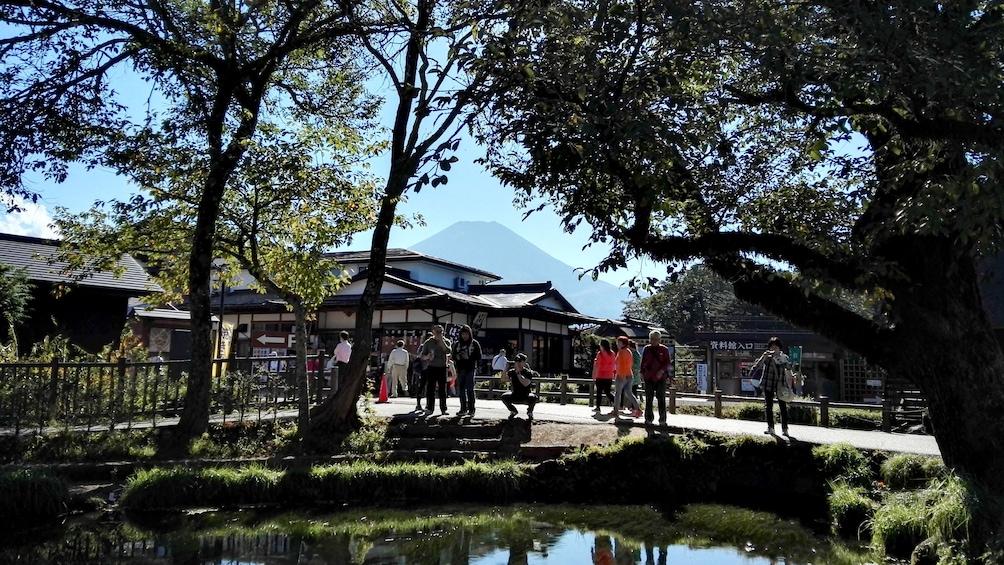 Show item 2 of 8. People walking through Oshino Village