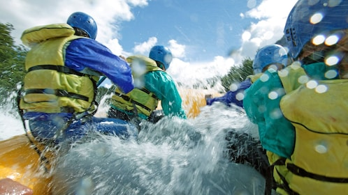 rafting in the rapids in Thailand