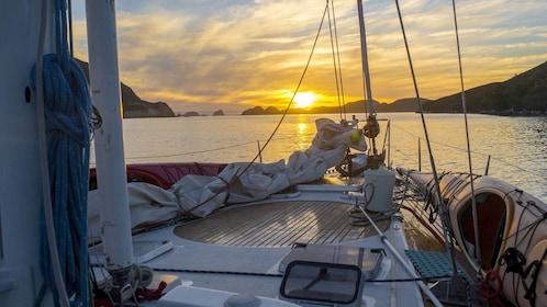 Sunset Hobart Yacht view in Australia