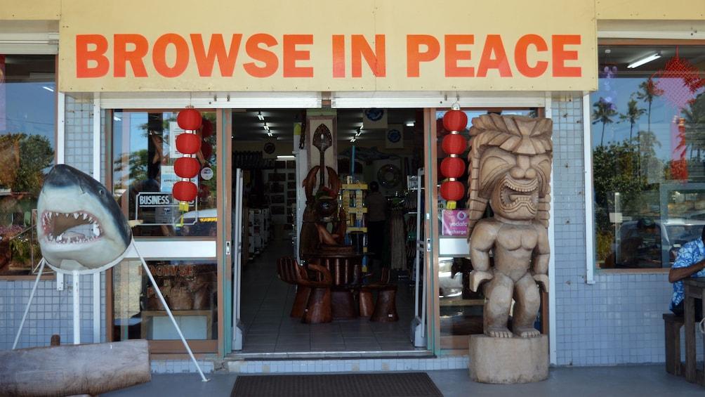 Outside of shop in Fiji