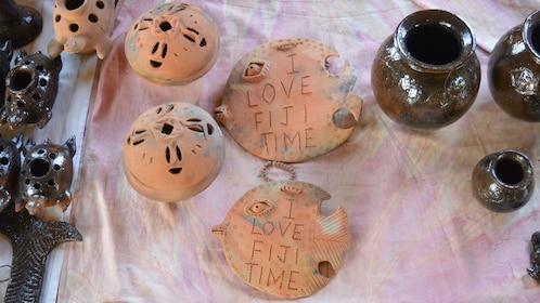 Ceramic artwork at shop in Fiji
