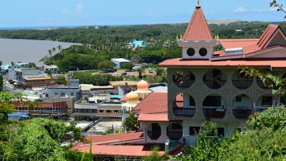 Town on the coast in Fiji