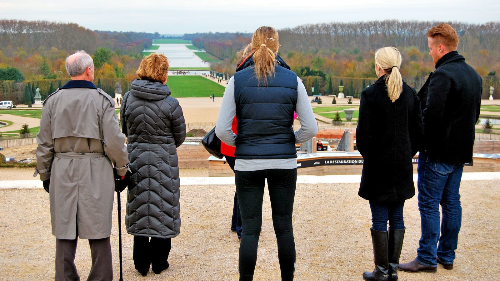 overlooking the extensive garden at the Versailles Palace in France
