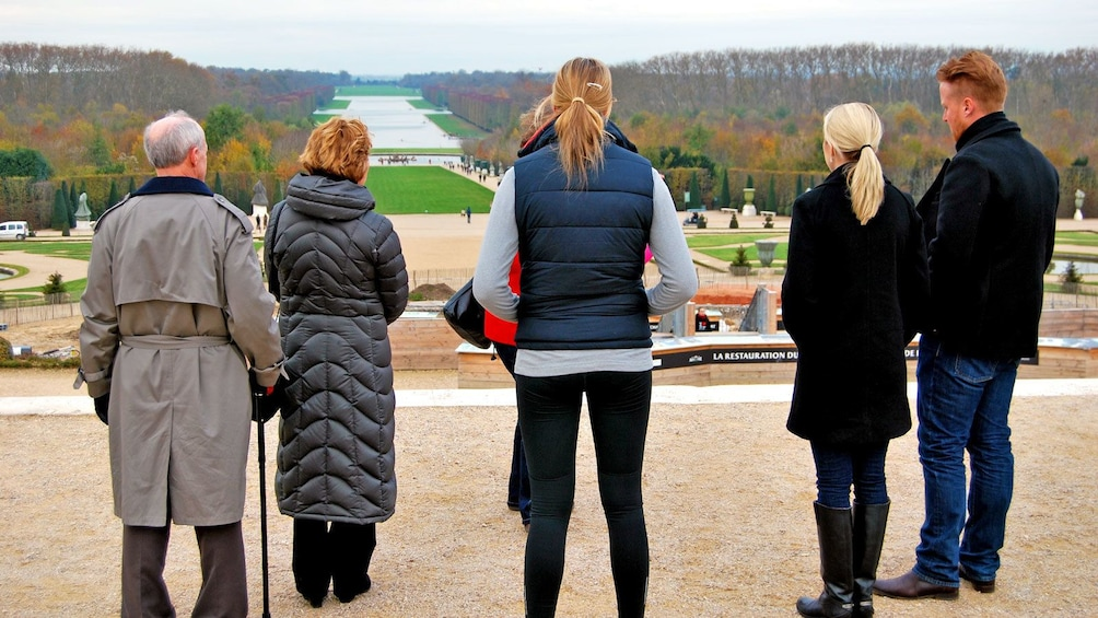 Show item 3 of 9. overlooking the extensive garden at the Versailles Palace in France