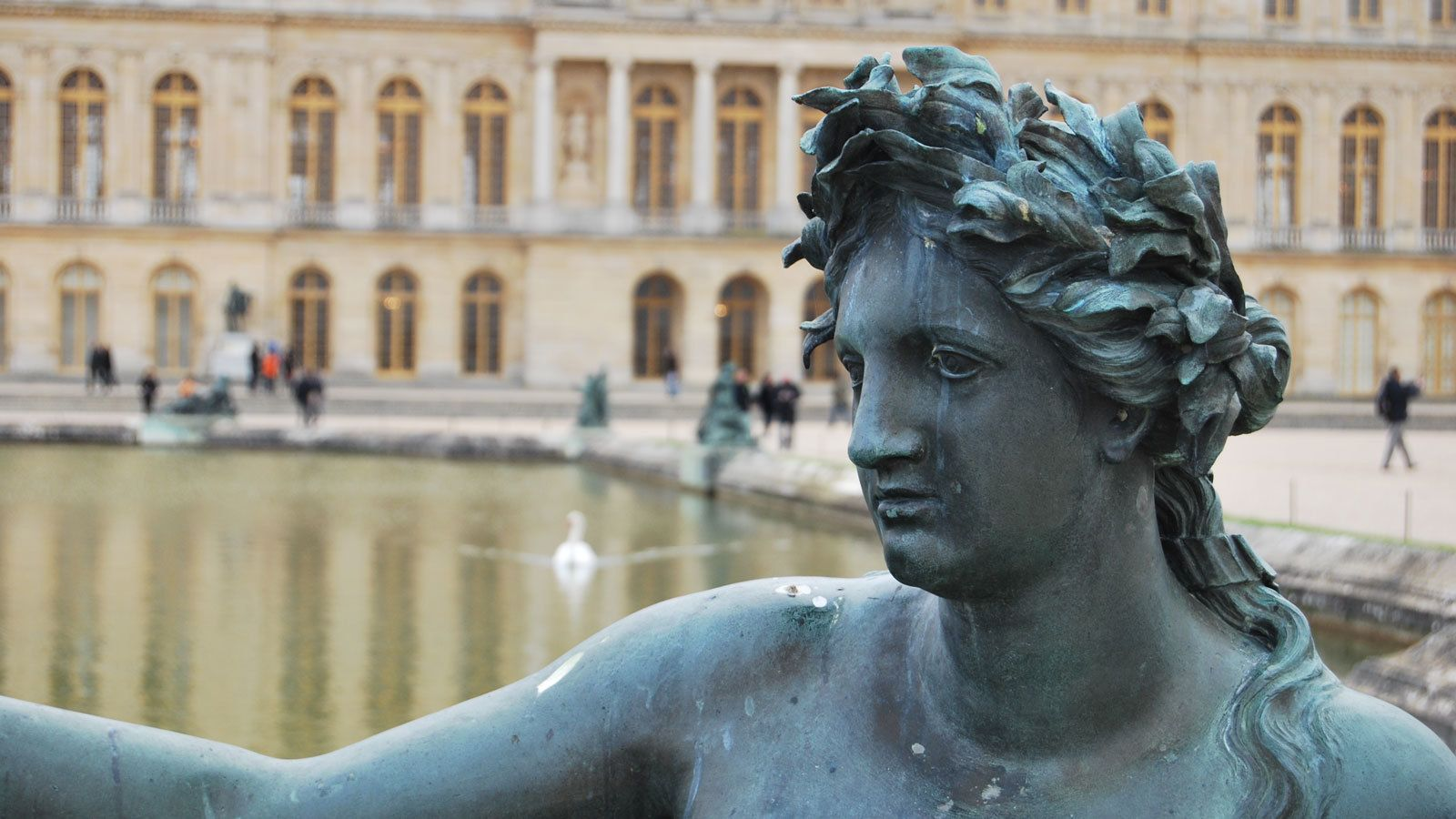 fountain sculpture outside the Versailles Palace in France