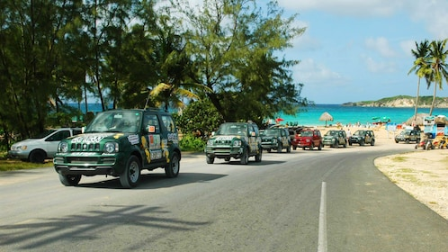 SUV's touring in Punta Cana