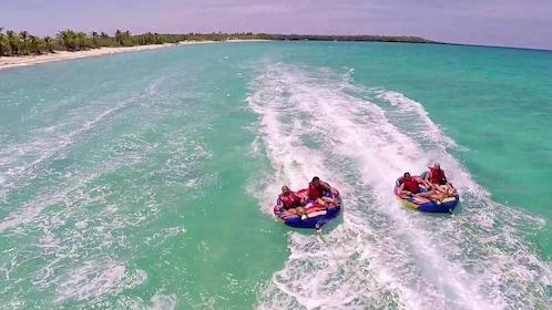 Groups on a water adventure in the Dominican Republic (La Romana), Caribbean