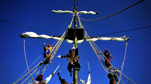View of the pirate ship on the Caribbean Pirate activity in Dominican Republic, Caribbean