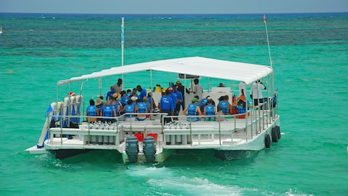 Boat on a water activity tour in Dominican Republic (La Romana), Caribbean