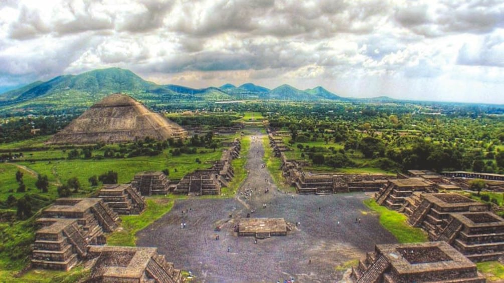 Aerial view of Teotihuacan.