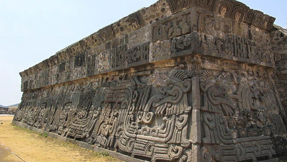 Close up of ancient structure.