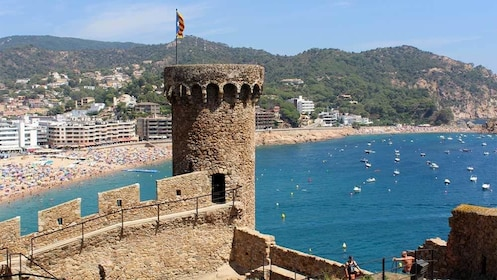 Beautiful panoramic view of Tossa de Mar, a Municipality in Spain