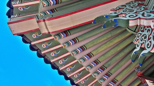 Closeup of colorful roof of Changdeokgung Palace