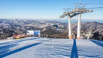 Skidlektion och heldagspaket på skidorten Yongpyong