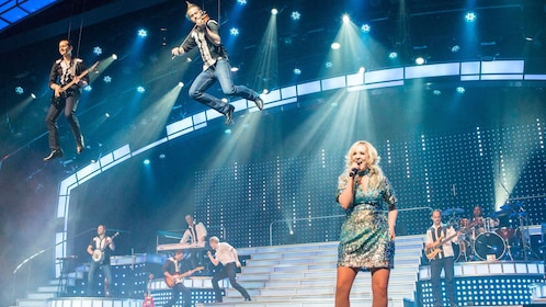 Performers are suspended in air at the Smoky Mountain Opry