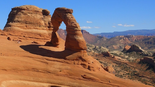 a natural standing rock archway in Nevada