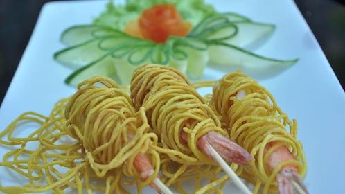 noodle and shrimp dish in phuket