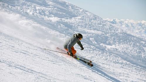 Downhill skier in Salt Lake City