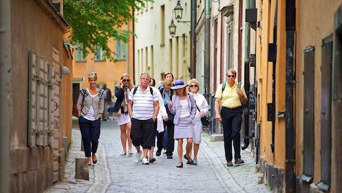 People on walking tour in Stockholm