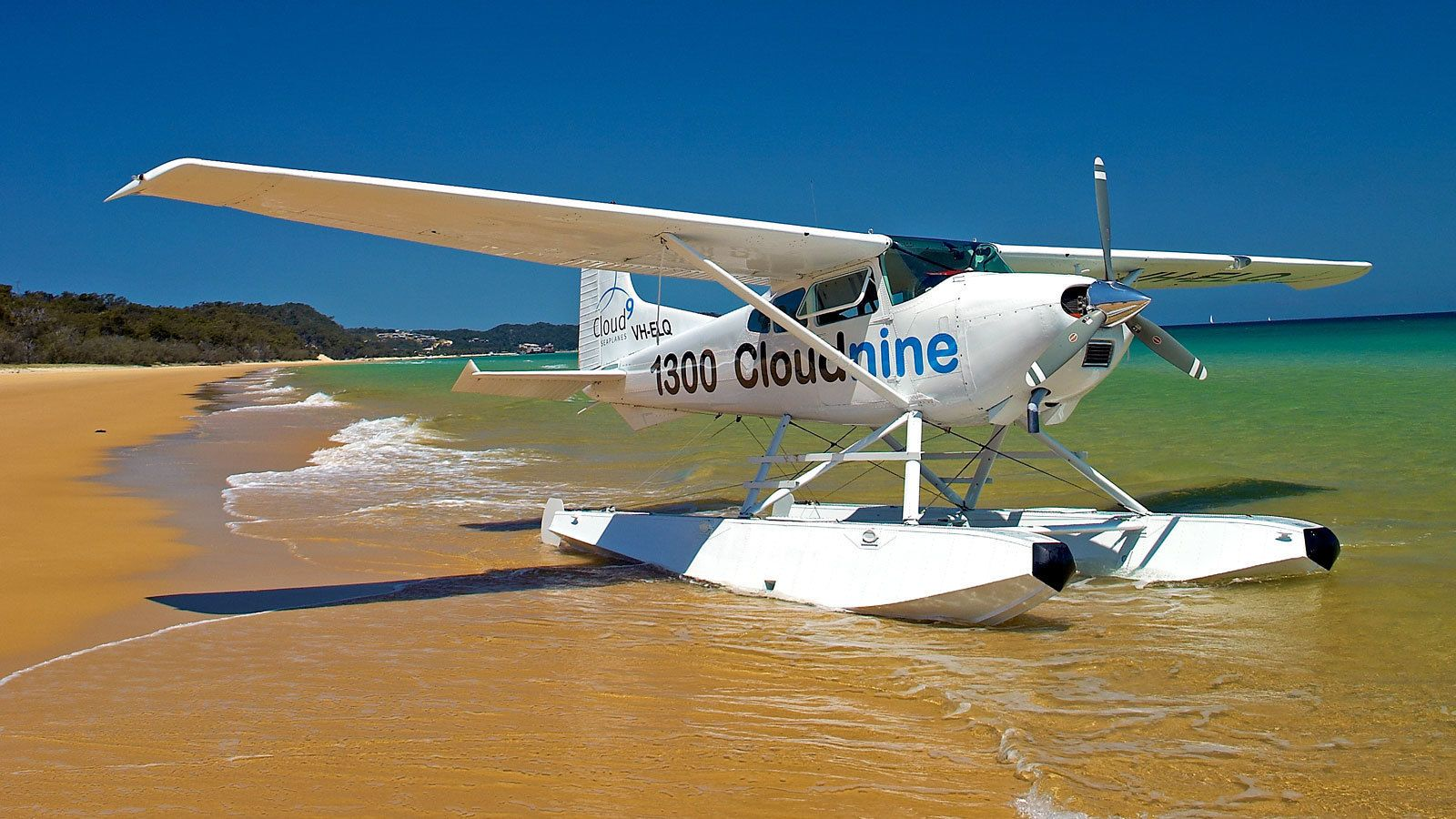 seaplane floating by the beach in Australia