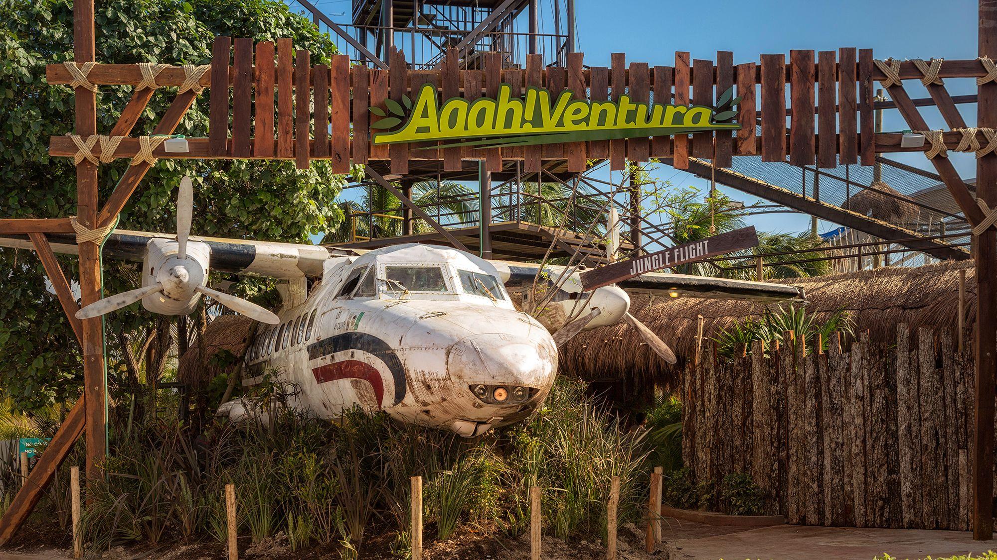Jungle Flight ride in Cancun