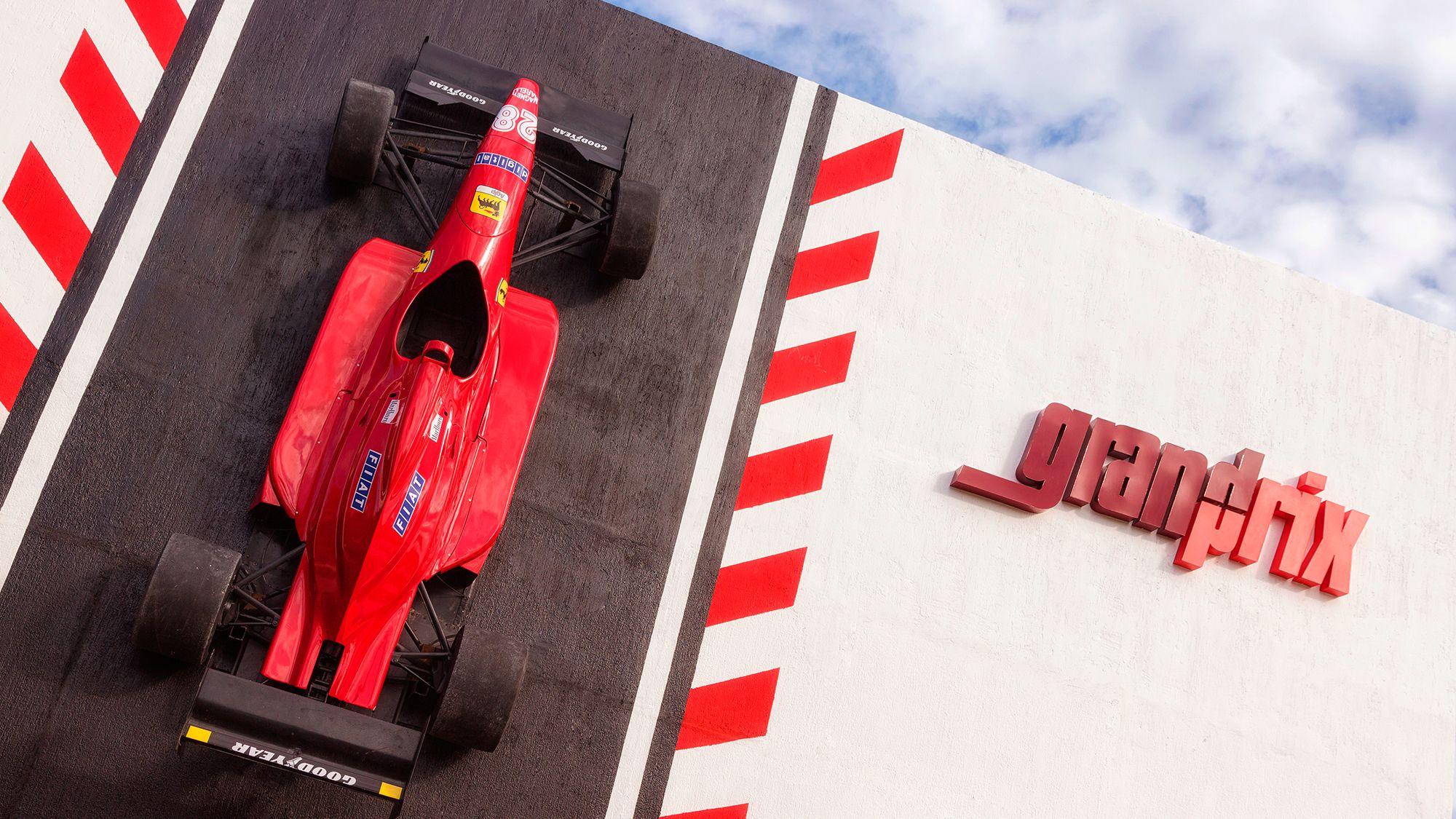 Grand Prix sign in Cancun
