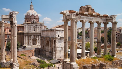 Ruins of the Roman Forum in Rome