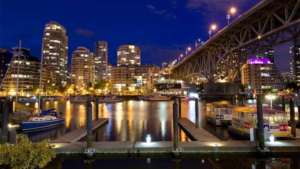 Show item 1 of 8. Granville Island at night in Vancouver, BC