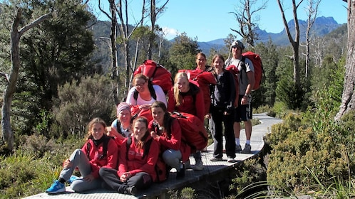tour group in red
