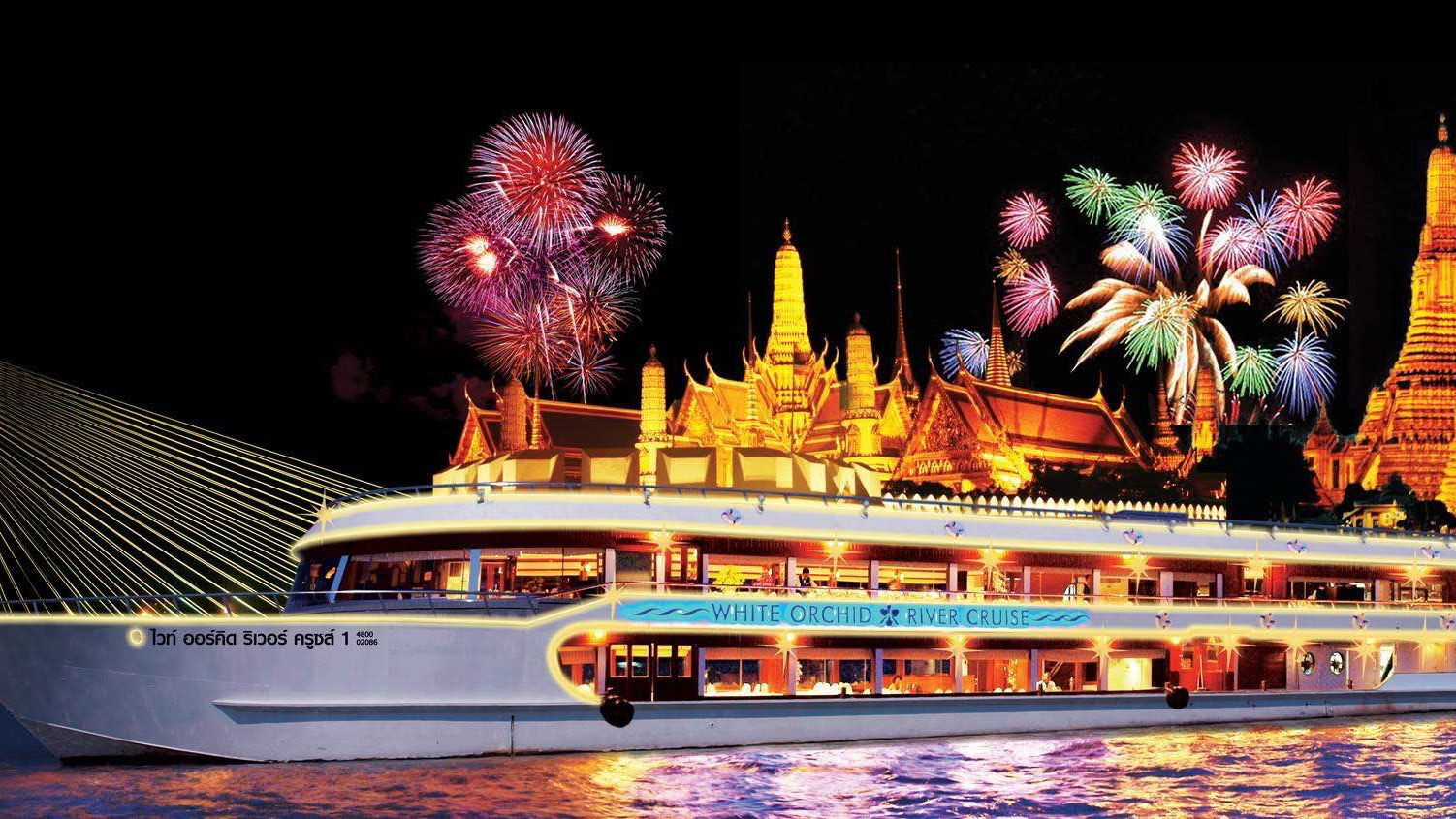 Chao Phraya River Dinner Cruise with Dinner