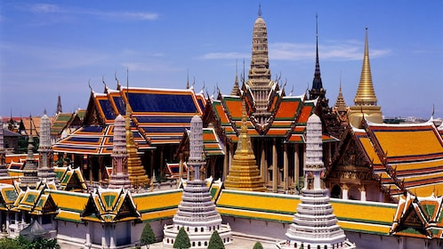 Stunning panoramic view of the Grand Palace in Bangkok